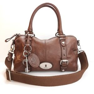 Fossil Maddox Leather Satchel